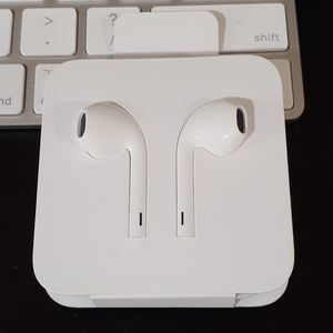 Apple earphones and lighting adapter brand new